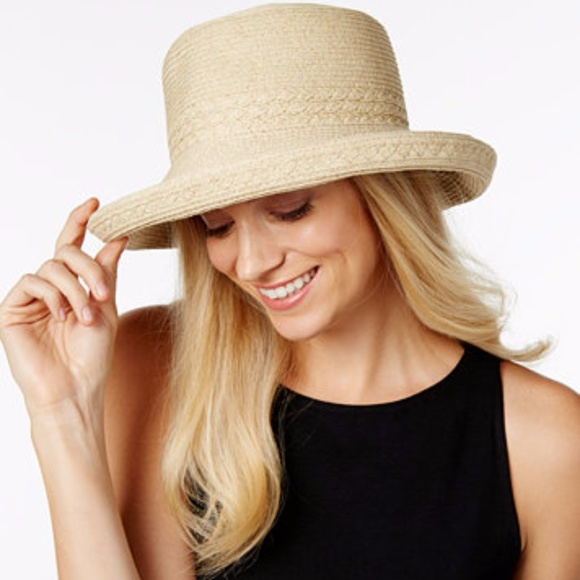 a00989a4e1b NINE WEST PACKABLE KETTLE STRAW HAT